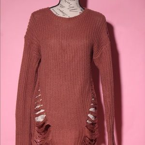 Sweaters - Shredded casual sweater